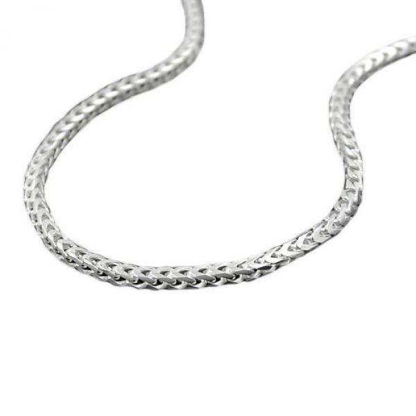 Collier Fuchsschwanz vierkant Silber 925 50cm