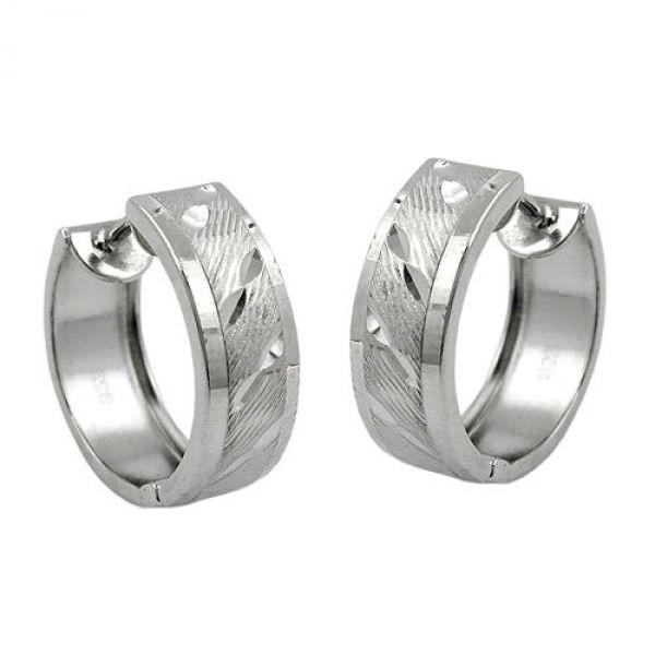 Creole, diamantiert, Silber 925