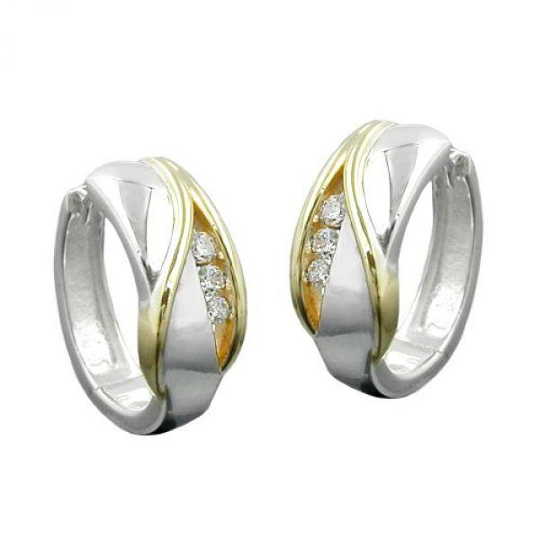 Creole bicolor Zirkonias Silber 925