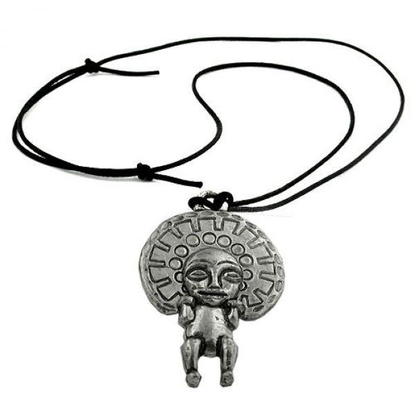 Kette, Anhänger Zinn, Gott der Inka