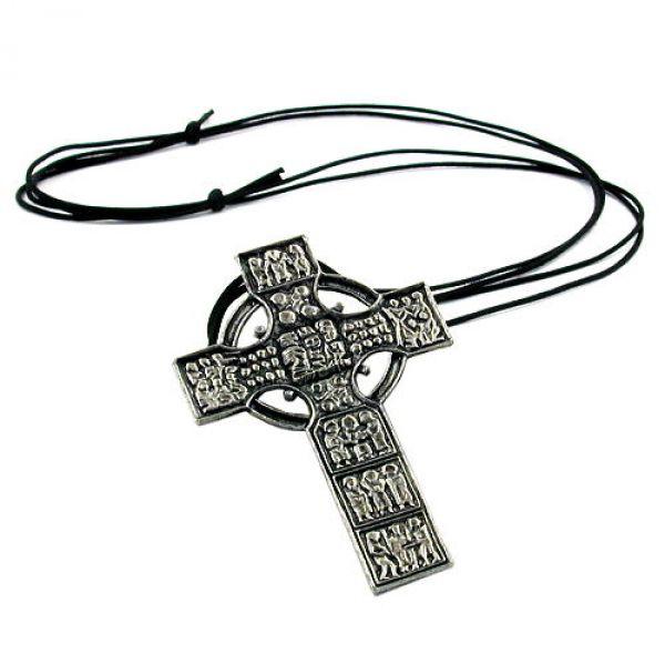 Kette, Anhänger Zinn keltisches Kreuz