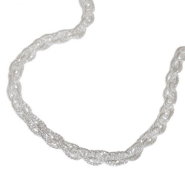 Kette, Doppelanker 50cm, Silber 925