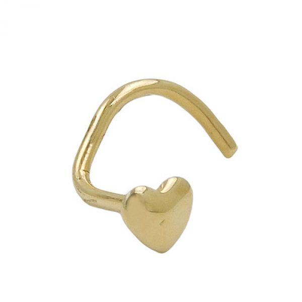 Nasenstecker, kleines Herz, 18Kt GOLD