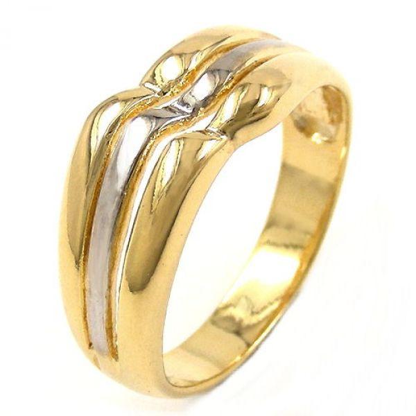 Ring, 8mm gold-plattiert 3-streifig