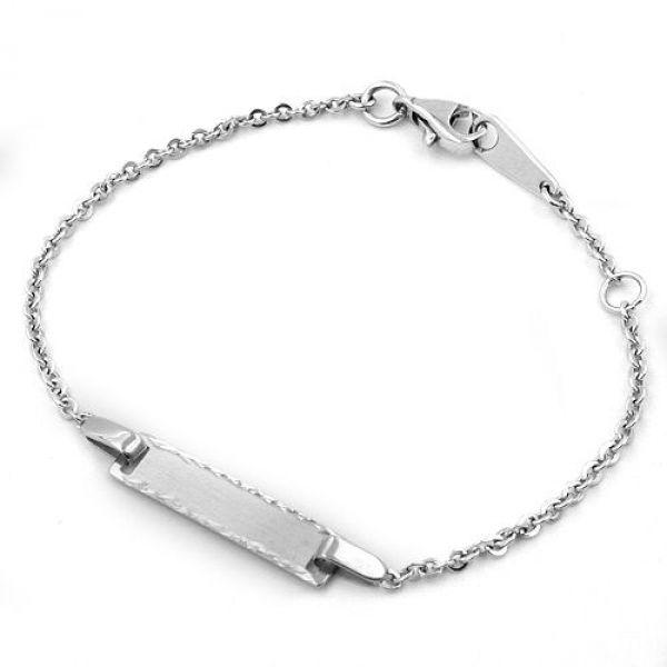 Schildband, rhodiniert, Silber 925 15cm