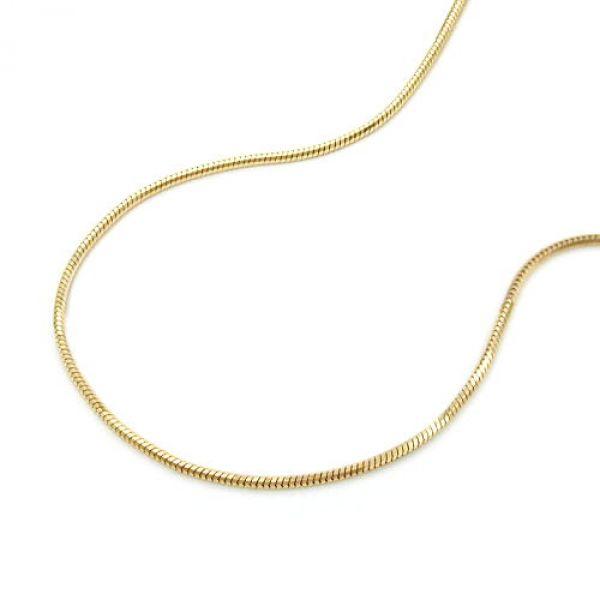 Schlangenkette, 5-kant, 38cm, 14Kt GOLD 38cm