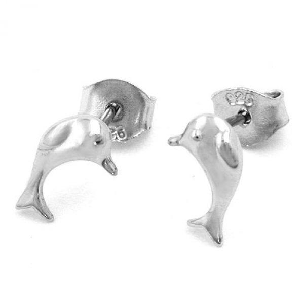 Stecker, Delfin, Silber 925
