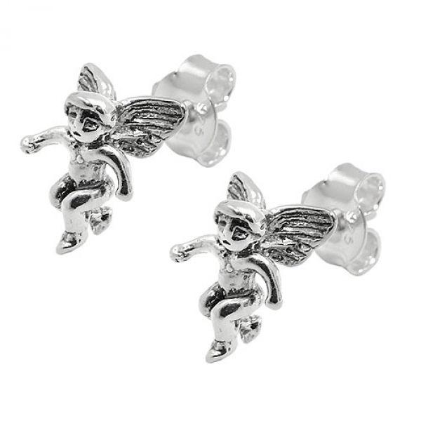 Stecker, Engel, geschwärzt, Silber 925
