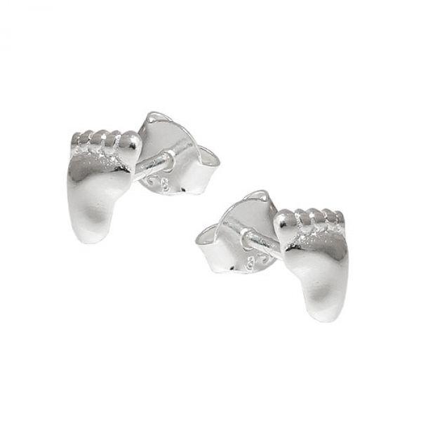 Stecker, Füße rechts-links, Silber 925