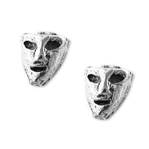 Stecker, kleine Maske, Silber 925