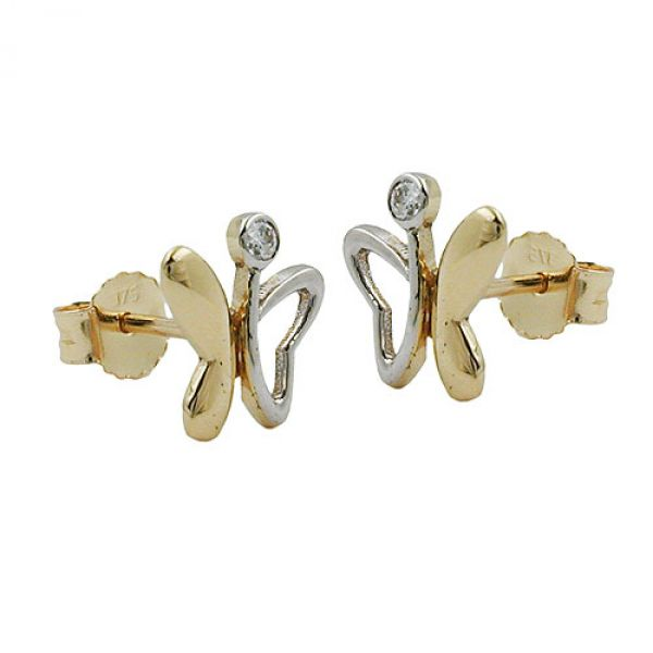 Stecker, Schmetterling, 9Kt GOLD