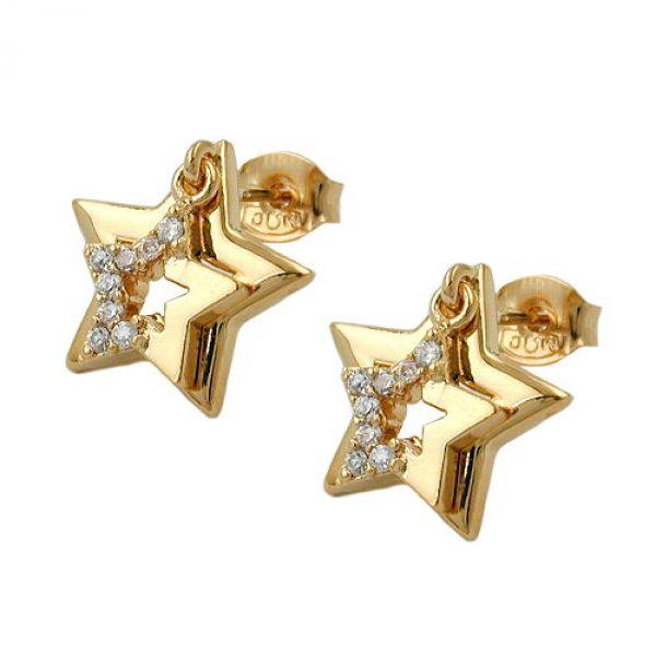 Stecker Stern doppelt vergoldet 3 Micron