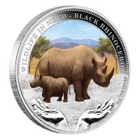 Tuvalu - 1 TVD Wildlife in Need Black Rhino 2012 - 1 Oz Silber