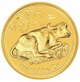 Australien - 50 AUD Lunar II Ochse 2009 - 1/2 Oz Gold