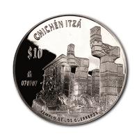 Mexiko - Chichen Itza - Templo de los Guerreros - 2 Oz Silber PP