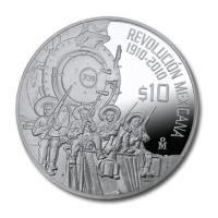 Mexiko - 10 Pesos Revolution Railroad 2010 - 2 Oz Silber PP