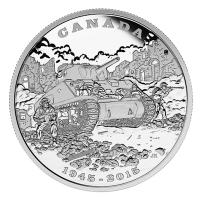 Kanada - 20 CAD 70. Jubiläum Ende Italien Feldzug 2015 - 1 Oz Silber