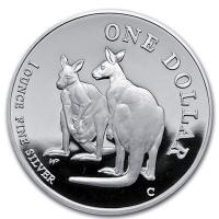 Australien - 1 AUD Silver Kangaroo 1999 - 1 Oz Silber
