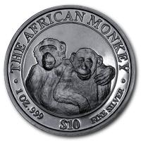 Somalia - The African Monkey 2000 - 1 Oz Silber