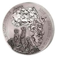 Ruanda - 50 RWF African Ounce Erdmännchen 2016 - 1 Oz Silber PP