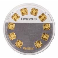 Goldbarren - Heraeus Multidisc - 10 * 1g Gold