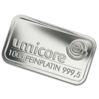 Platinbarren - 100g Platin