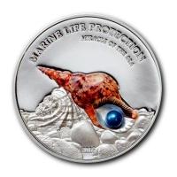 Palau - 5 USD Perlmuschel 2016 - Silber PP
