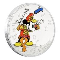 Niue - 2 NZD Disney Mickey Mouse Die Band 2016 - 1 Oz Silber