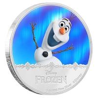 Niue - 2 NZD Disney Frozen Olaf 2016 - 1 Oz Silber