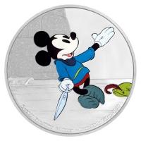 Niue - 2 NZD Disney Mickey Mouse Schneiderlein 2016 - 1 Oz Silber