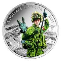 Kanada - 15 CAD Nationalhelden Soldaten 2016 - Silbermünze