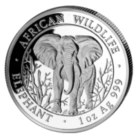 Somalia - African Wildlife Elefant 2004 - 1 Oz Silber