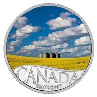 Kanada - 10 CAD 150 Jahre Kanada Rapsfeld 2017 - Silbermünze