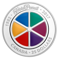 Kanada - 25 CAD 35 Jahre Trivial Pursuit 2017 - 1 Oz Silber PP