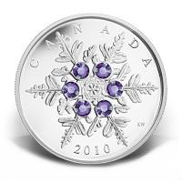 Kanada - 20 CAD Crystal Snowflake Tanzanite 2010 - 1 Oz Silver
