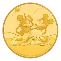 Niue - 250 NZD Disney Mickey Mouse Gallopin Gaucho 2017 - 1 Oz Gold