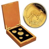 Australien - 195 AUD Känguru 5-Coin-Set 2017 - 1,9 Oz Gold PP