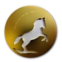 Mongolei - Nature Pferd 2014 - 1/2 Oz Silber