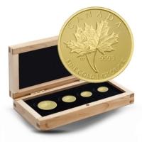 Kanada - 66 CAD Maple Leaf 4-Coin-Set - 1,4 Oz Gold