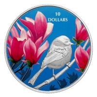 Kanada - 10 CAD Vögel in bunter Natur Meise - Silbermünze