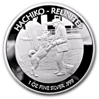 Niue - 1 NZD Hachiko Reunited 2017 - 1 Oz Silber PP