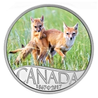 Kanada - 10 CAD 150 Jahre Kanada Swift Fuchs 2017 - Silbermünze