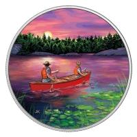 Kanada - 15 CAD Outdoor Kanufahrt 2017 - Silbermünze